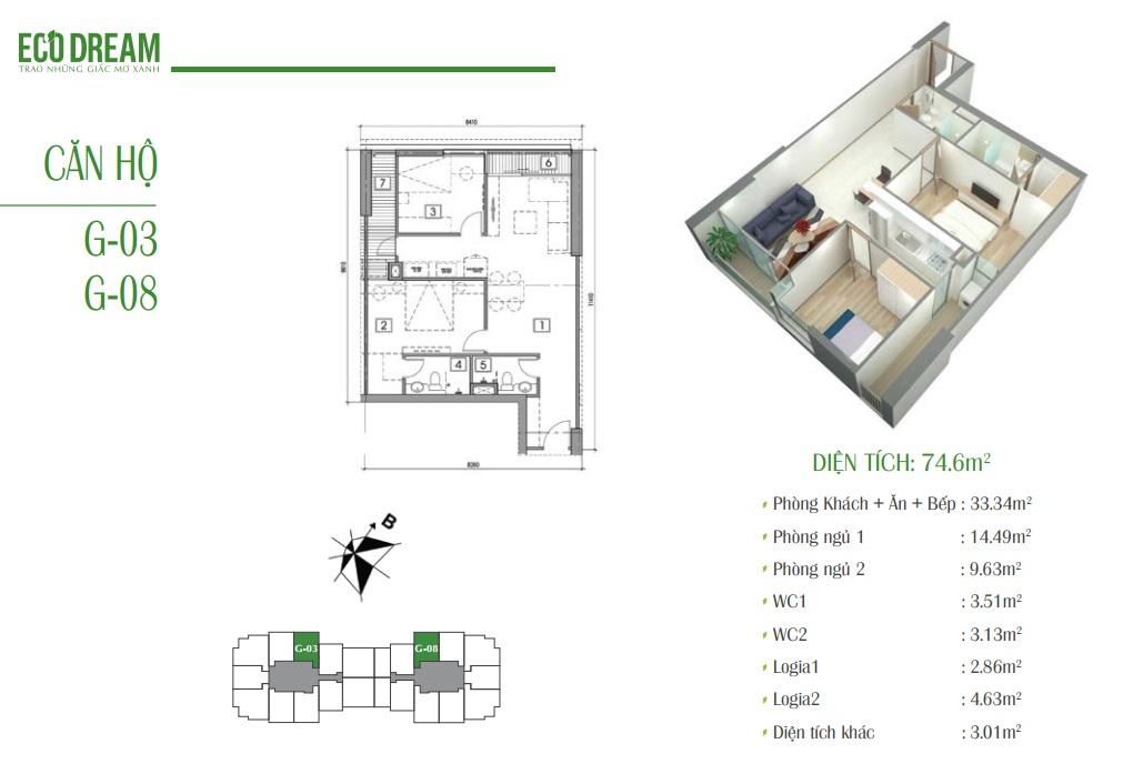 Căn hộ G chung cư Eco Dream