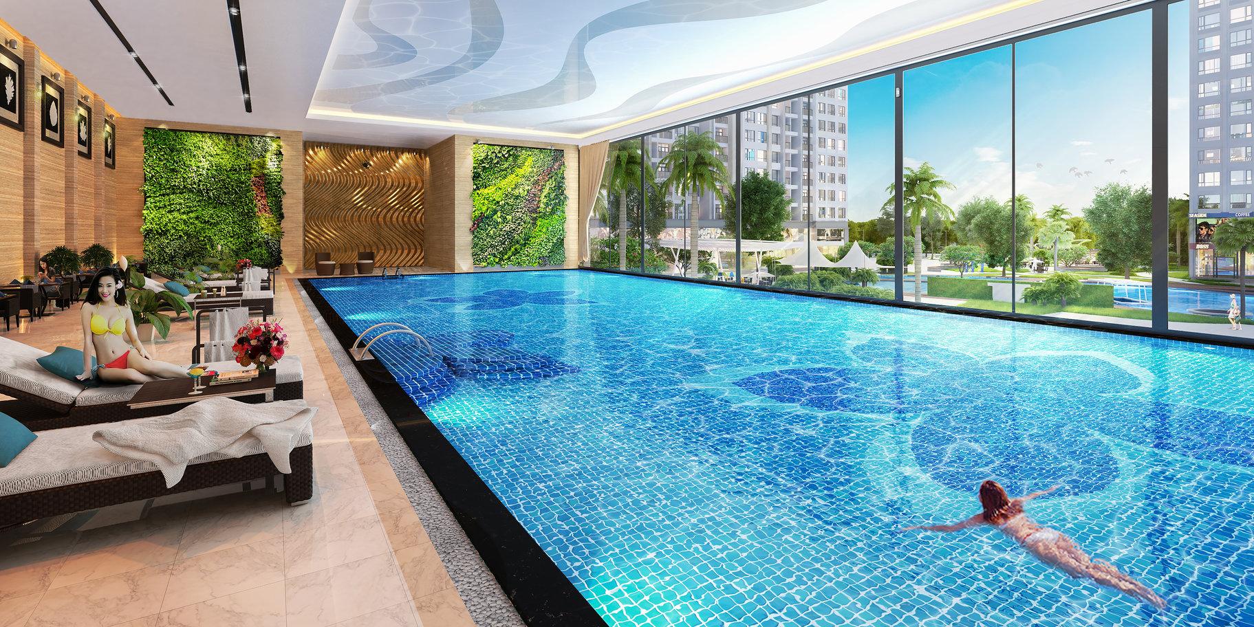 Bể bơi tại chung cư Golden Park Tower