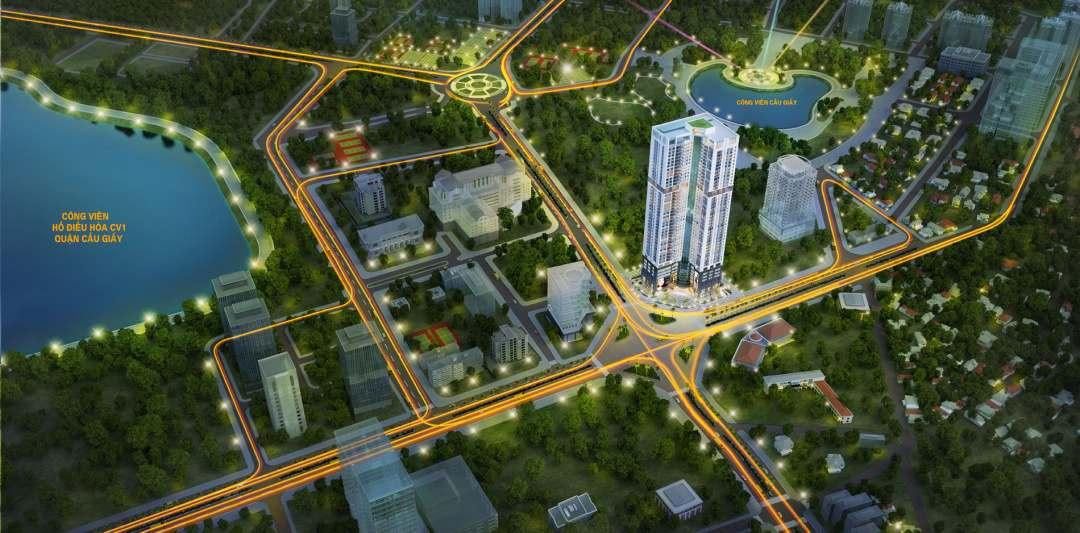 Chung cư Golden Park Tower vị trí đắc địa view cực thoáng ra hai công viên tại Cầu Giấy