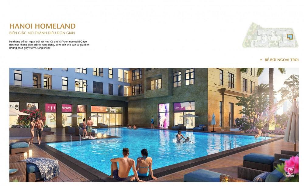 Bể bơi tại chung cư Hà Nội Homeland