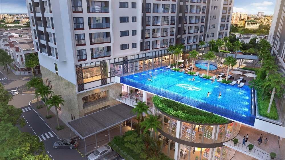 Bể bơi tại dự án Green Pearl Minh Khai