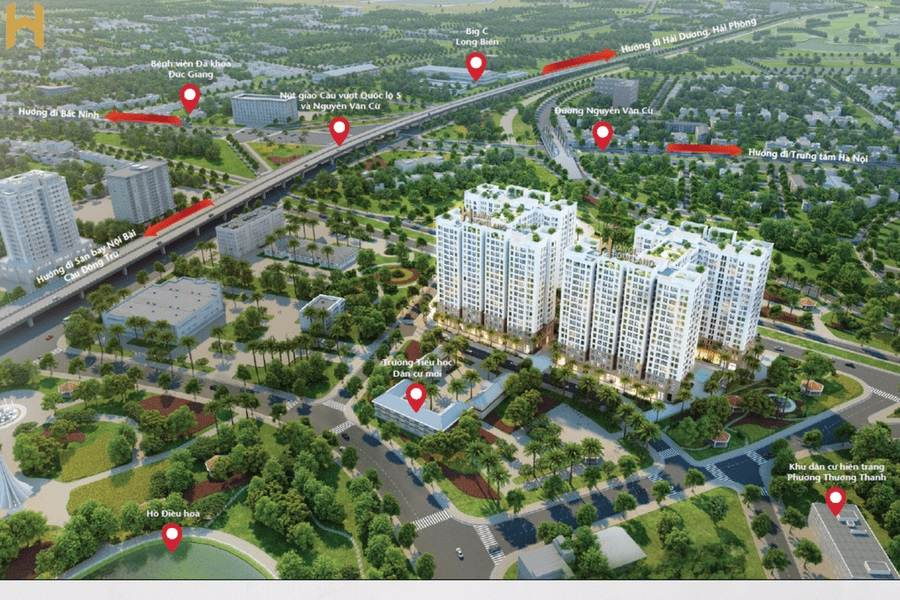 Phối cảnh dự án Hà Nội Homeland