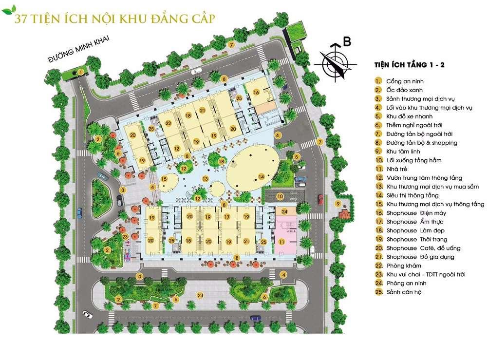 Hệ thống tiện ích dự án Green Pearl Minh Khai