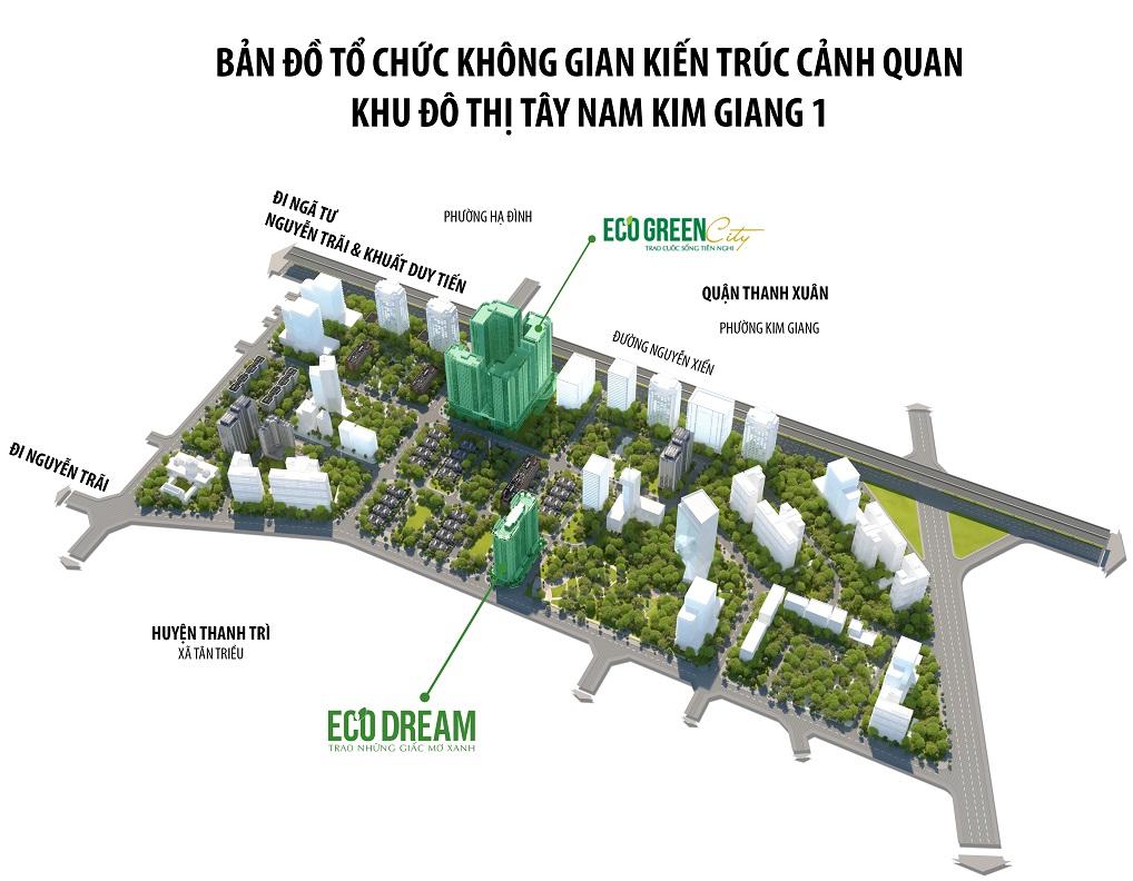 Cảnh quan vị trí chung cư Eco Dream