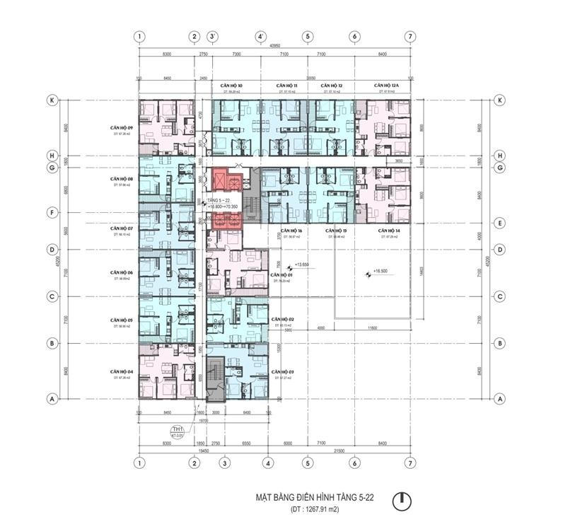 Mặt bằng dự án chung cư Areca Garden Tầng 5 - 27