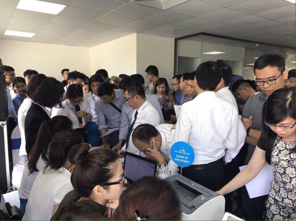 Hình ảnh mở bán đợt 1 dự án Hà Nội Homeland