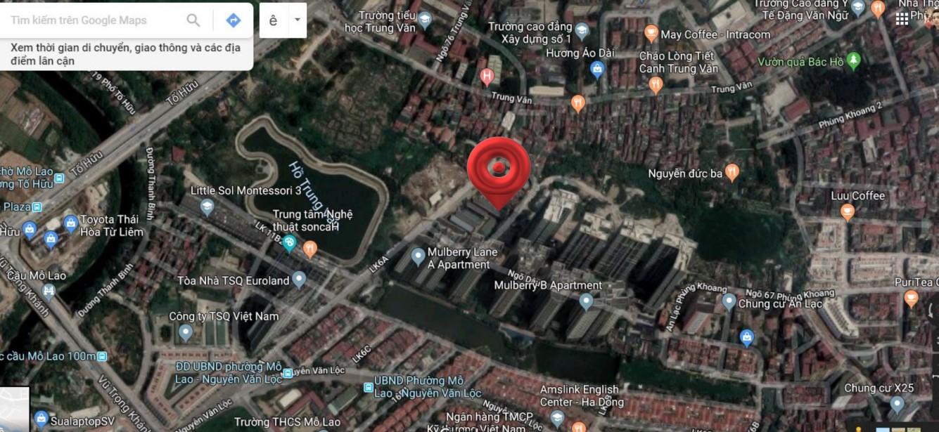 Vị trí dự án Hoàng Thành Villas