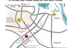 Vị trí dự án Hoàng Thành Villas đắc địa trung tâm của trung tâm