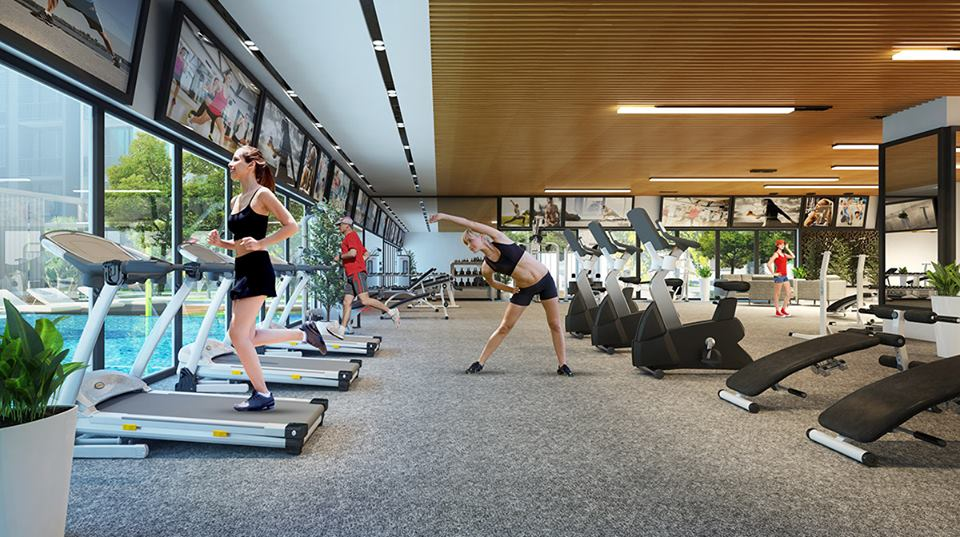 Phòng Gym dự án Ariyana Lakeside
