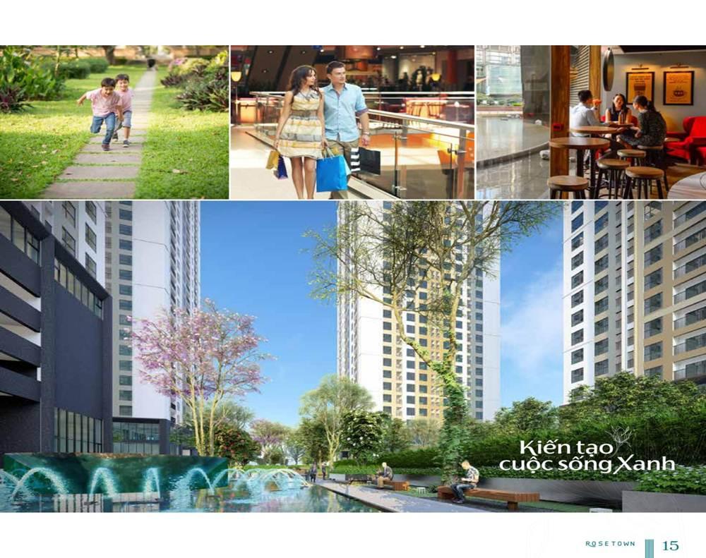 Không gian sống xanh tại Rose Town Ngọc Hồi