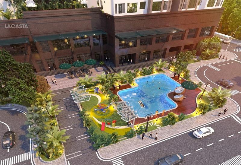 Phối cảnh bể bơi chung cư Lacasta Tower