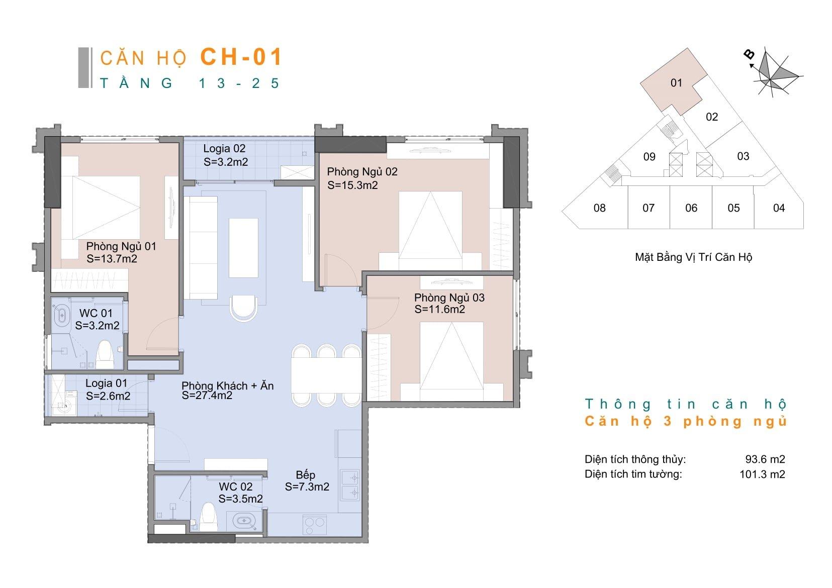 Căn hộ CH1 chung cư Trinity Mễ Trì