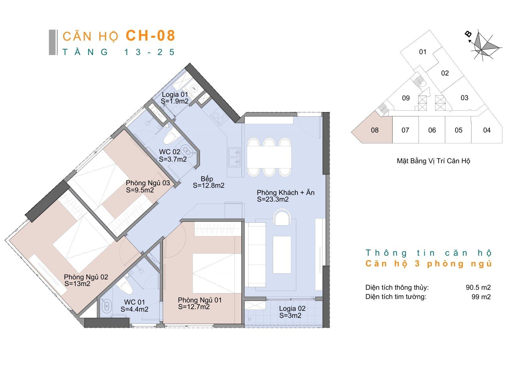 Căn hộ CH8 chung cư Trinity Mễ Trì